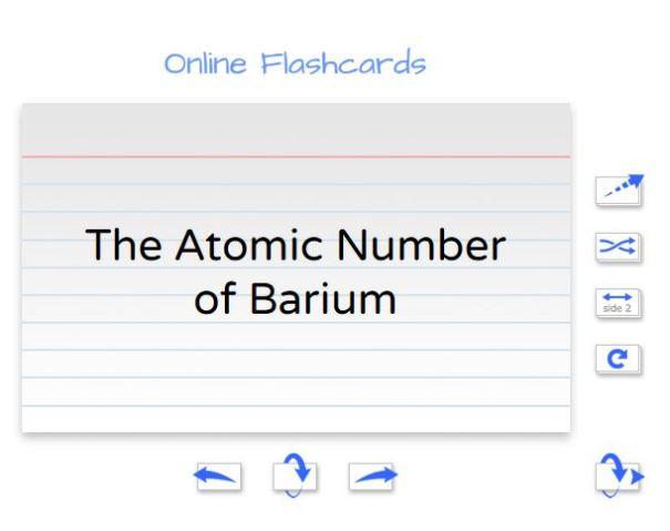 Sample Flippity online flashcards